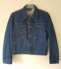 VTG 60'S WRANGLER Denim Jean Jacket L Sz 44 Chore Indigo No Fault Work Coat 70s