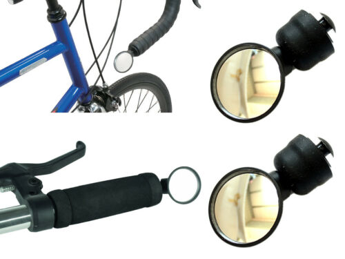 Mountain Bike Bar End Mirror 2-Pack Road Racing Adjustable Angle Mirror