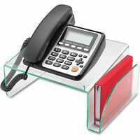Lorell Phone Stand 11x10x5-1/2 Clear/green 80661 on sale