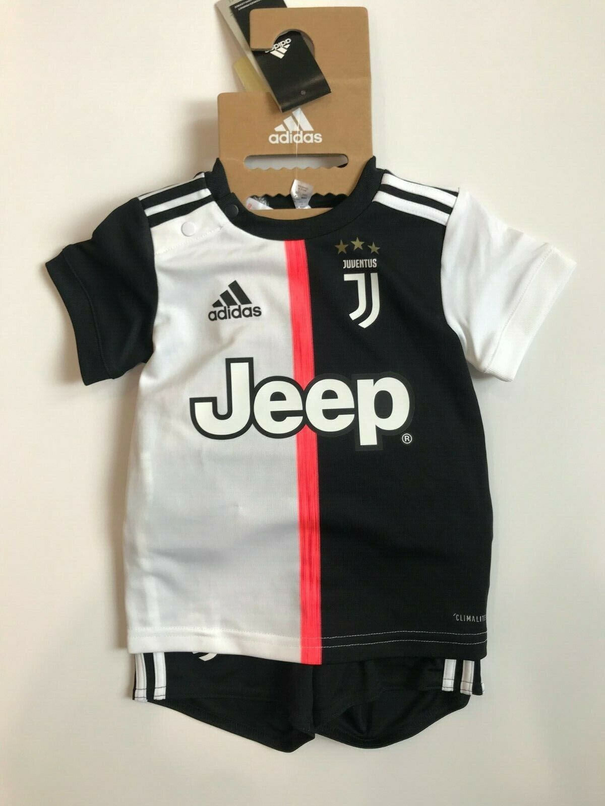 Adidas Completo Juventus Baby Ufficiale Home 2019  Bianco Nero  DW5465