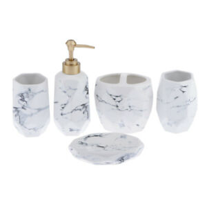 5 Pcs Bathroom Accessories Soap Dish