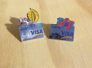 Two-Sydney-2000-Olympics-Visa-Pins