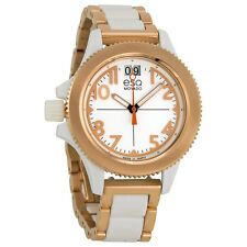 ESQ Movado 07101403 Fusion White Dial Two-Tone Rose Gold Plated Womens Watch