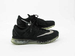 Details about Nike Air Max 2016 Men Black Athletic Running Shoes 13M Pre Owned DQ