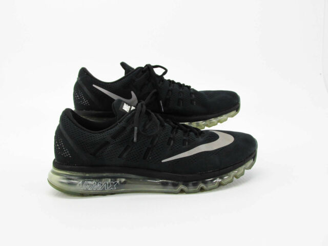 quality design 756c8 9f123 Nike Air Max 2016 Men Black Athletic Running Shoes 13M Pre Owned DQ