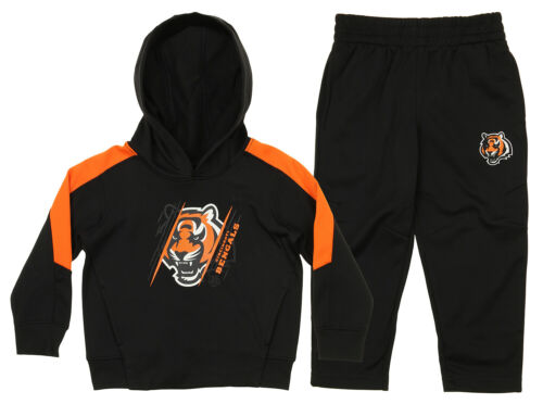 Black OuterStuff NFL Toddler Cincinnati Bengals Poly Fleece Set