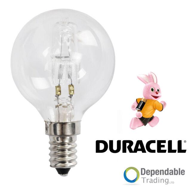 2x Duracell 42w = 60w SES (E14) Clara halógena Ahorro De Energía Pelota golf (