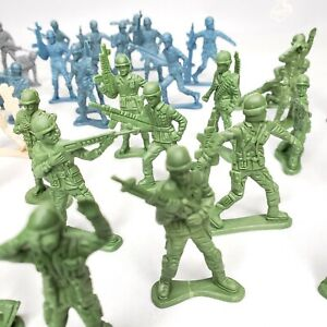 Army-Men-Figures-Plastic-Soldiers-4-colors-over-50-soldiers