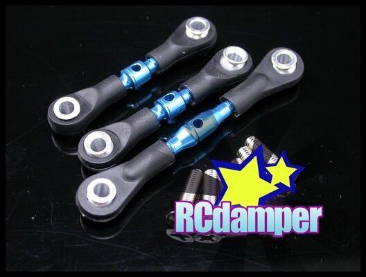 Set For Tamiya TT01//TT01E//TT01D 3pcs,Blue GPM TT160 Aluminum Turnbuckle Tie Rod