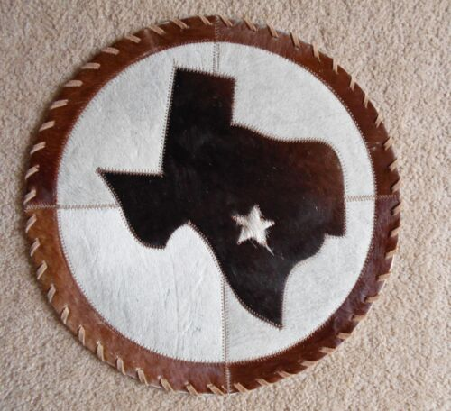 WESTERN TABLE TOP 16X16 PLACEMATS DRESSER DISPLAY COWHIDE STATE OF TEXAS DECOR