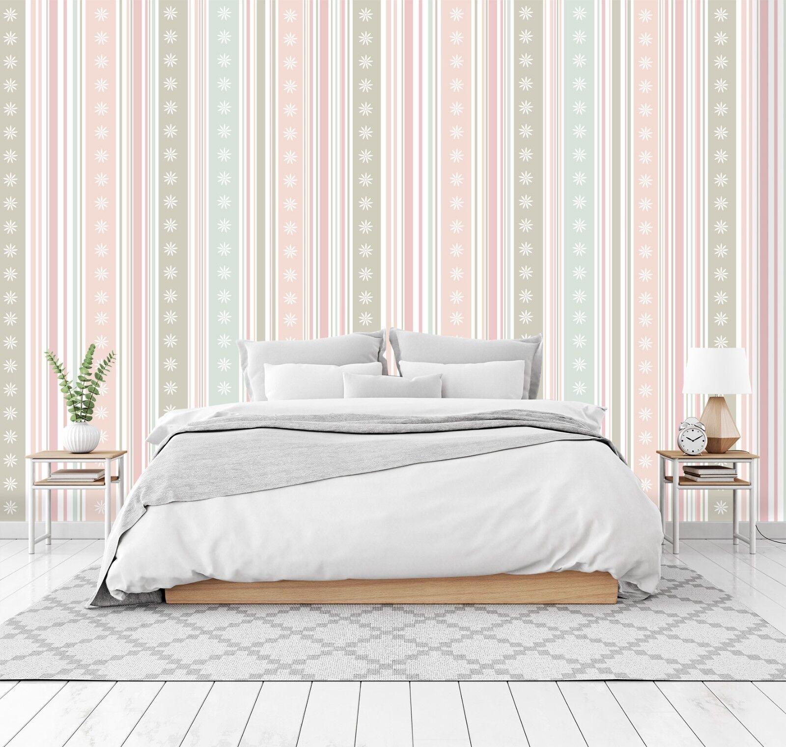3D Rosa Streifen 744 Tapete Wandgemälde Tapete Tapeten Bild Bild Bild Familie DE Lemon   Schön und charmant    Hohe Qualität und günstig     ac3977