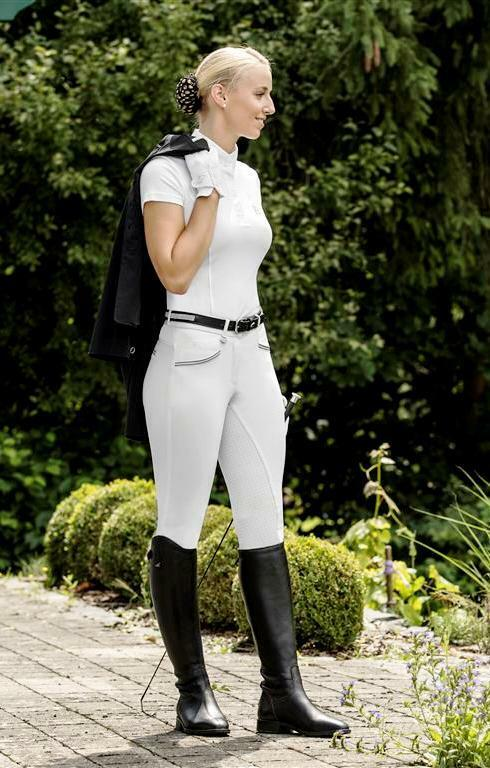 NWT USG Ladies Full Seat  Breech Ava White Full Seat with Silicone 30 Long