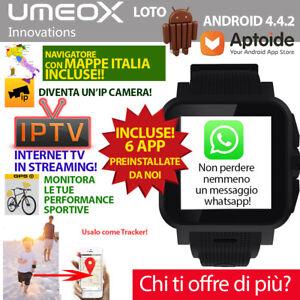 SMARTWATCH-ANDROID-OROLOGIO-TELEFONO-UMEOX-LOTO-SIM-3G-TOM-TOM-GPS-MAPPE-ITA