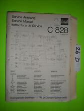 Dual c 828 service manual original repair stereo tape deck player