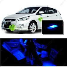 For Hyundai Accent 2012-2016 Blue LED Interior Kit + Blue License Light LED