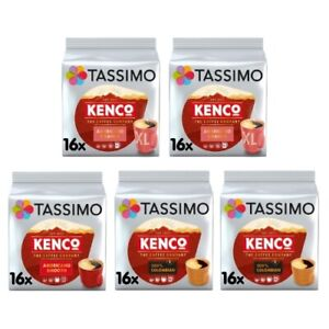 Tassimo Kenco Coffee Bundle Pods - Americano Smooth/Grande/Colombian - 5 Packs