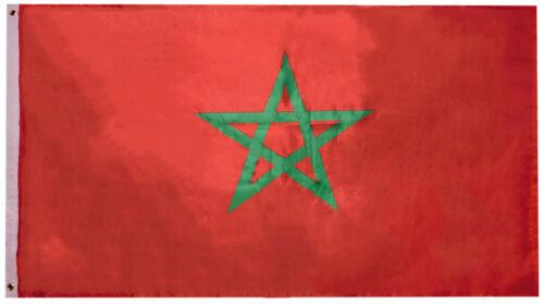 Morocco Moroccan Country Premium 3x5 3/'x5/' Woven Poly Nylon Flag Banner