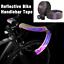 thumbnail 1 - CXWXC 2pcs Non-Slip Reflective Bike Bicycle Handlebar Tape Bar PU EVA Grip Wrap