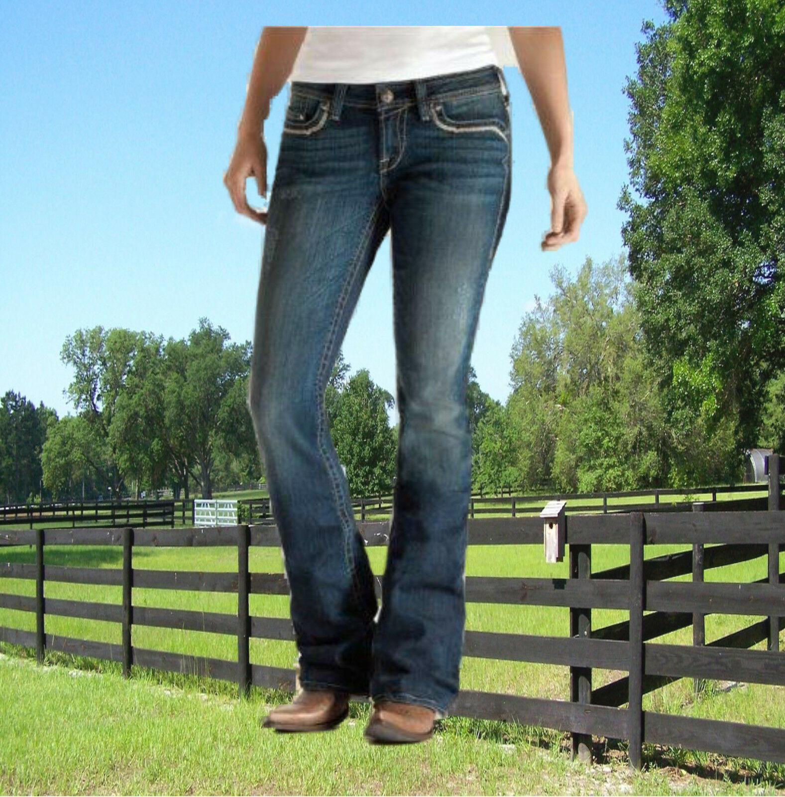 Ariat Jeans Damen Stiefel Cut Turquoise Halo Cross Ariat Ariat Ariat Modejeans Western be602e