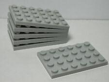 Lego Set of 6 New 4 x 6 Plates White Batman 2012 12-99 Boys /& Girls 3032