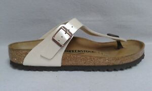 promo code b7046 09b45 Details zu Birkenstock Gizeh Pantolette perl weiß Fußbett Schnalle Birko  Flor 0146 4