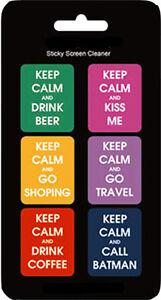 """Tablet & Ebook-zubehör Unparteiisch Sticker """"keep Calm"""" Cool Cleaner Reinigung Display Handy Phone Tablet Geschenk Delikatessen Von Allen Geliebt"""