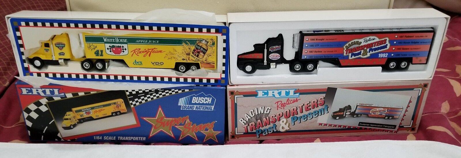 (2) ERTL échelle 1 64 transporteurs Busch  Past & Present Limited Edition Neuf dans sa boîte  100% de contre-garantie authentique