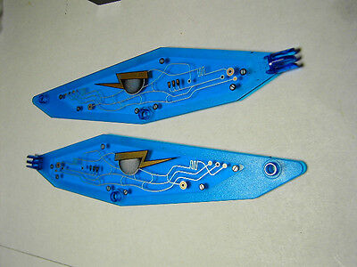 LEGO Large Pair Insectoid Wings w// Arm Hinge /& Circuitry Pattern Trans-Dark Blue