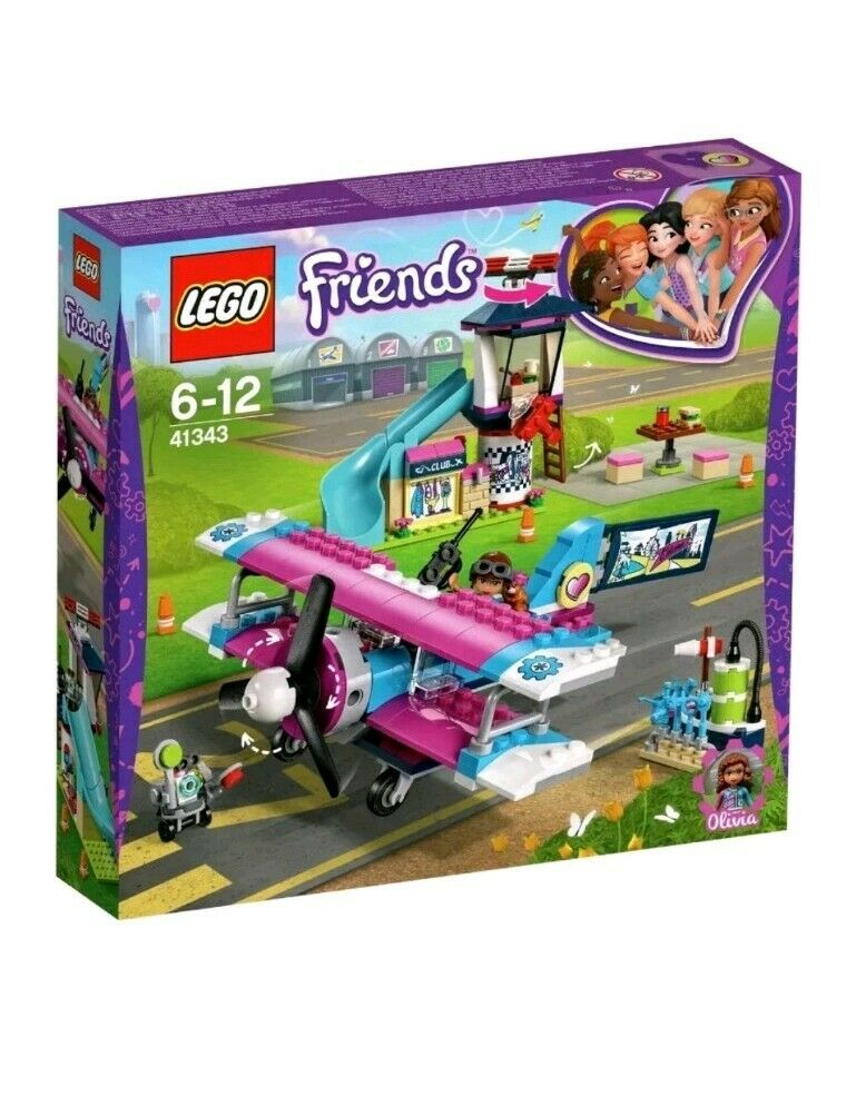 Lego Friends Heart Lake Airplane Tour 41343