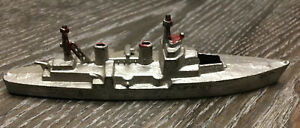 Vintage-Die-Cast-Tootsie-Toy-Navy-Ship-Made-in-United-States-of-America