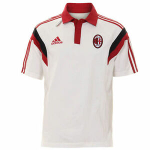 Dettagli su AC Milan Originale Adidas Uomo Allenamento Polo T shirt mostra il titolo originale