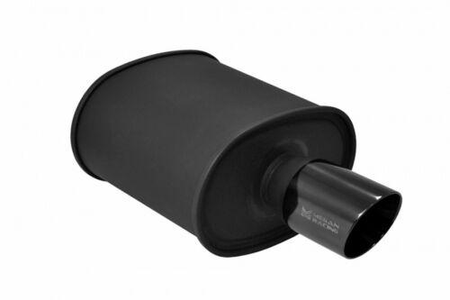 Megan Universal Muffler M-BC Turbo Muffler Black chrome tip MR-MU-MBC-T
