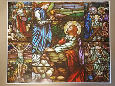 """Jesus Stained Glass Poster Art FULL SIZE 30"""" x 24"""" Christ Religious Easter"""