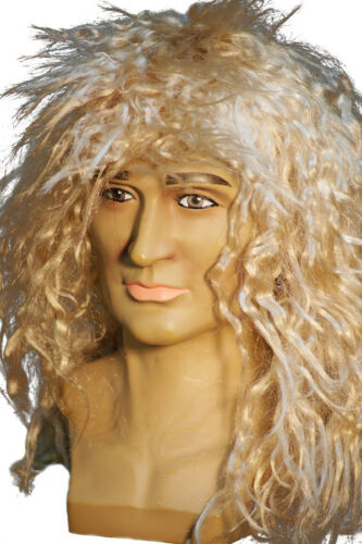 1980/'s-Rocker-Star-Dave Coverdale-Whitesnake-HARD ROCKER-BLONDE WIG-Fancy Dress