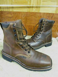Justin Boots Men S Stampede Steel Toe Lace Up Work Boots
