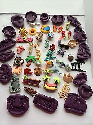 Hawaii Beach Ocean Life Flexible Polymer Clay Resin Food Push Mold