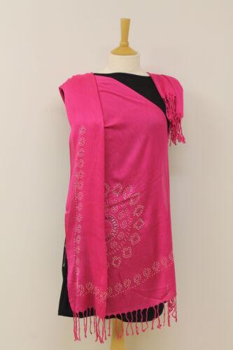 Ladies Beautiful Shiny Multi Stud Bridal Party Scarf Long Hijab Shawl Wrap Gift