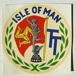 Auto & Motorrad: Teile Aufkleber Aggressiv Isle Of Man Iom Schriftzug 13 Cm Wasserabziehbild 45101j Abziehbild Elegant Im Stil