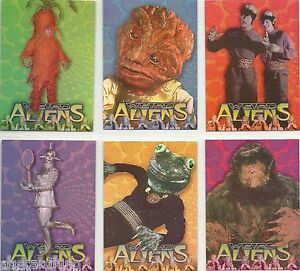 Lost-in-Space-Classic-Weird-Aliens-Complete-Foil-Insert-Card-Set-6-NM-1997
