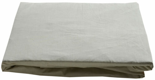 King Bed Fitted Sheet Natural Green Colour Organic Cotton Luxury Percale
