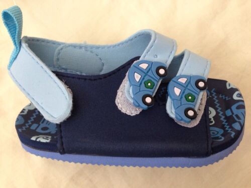 baby babies BOYS SUMMER SANDALS shoes navy blue cars strappy 9-12 12-15 15-18m