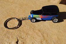 Custom Key Chain ring Hot Wheels 100% Midnight Otto Rat rod street real riders
