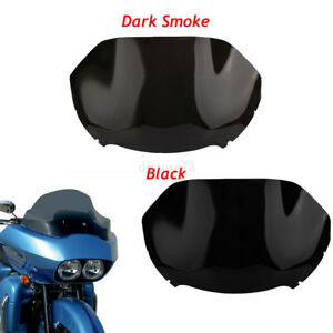 moto-pare-brise-Windshield-Pare-brise-pour-14-17-Harley-double-light-Road-Glide