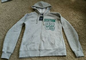 NWT Champion Stetson University SU Full Zip Hoodie size large L - heather gray