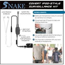 Earphone Connection Q-Release SNAKE Ipod-Style Earpiece for Harris / Macom MRK