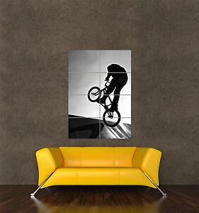 POSTER PRINT PHOTO SPORT BMX BIKE BIKING RAMP EXTREME JUMP STUNT AIR SEB361