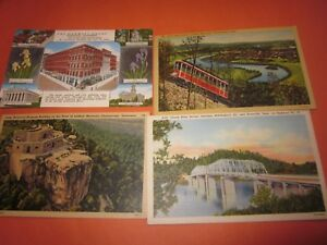 4-Vintage-2-Used-Dated-1947-Postcards-Tennessee-Themed-Lookout-Mountain-3