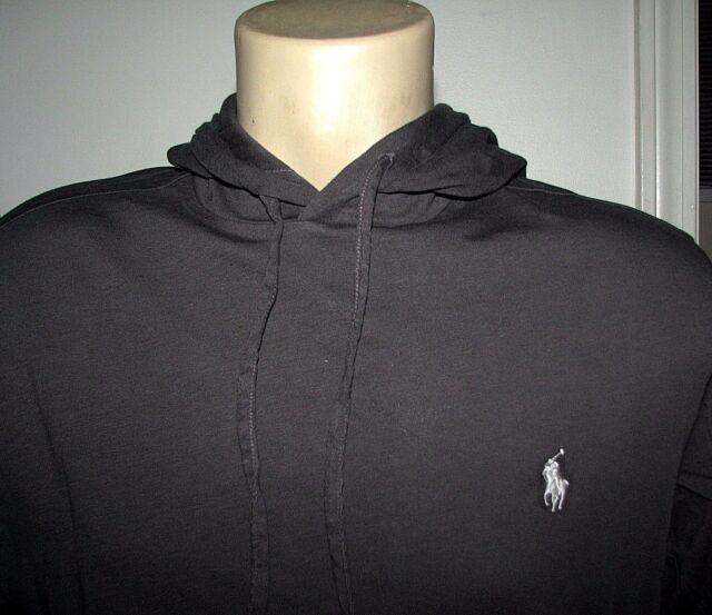 067b2c81f Men s  50 (XXL) POLO-RALPH LAUREN Charcoal Pullover Jersey Hooded T-Shirt