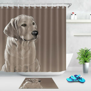 Image Is Loading Waterproof Fabric Polyester Labrador Retriever Shower  Curtain Animal