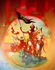 "1977 Full Color Plate /""Duel/"" by Frank Frazetta Fantastic GGA"